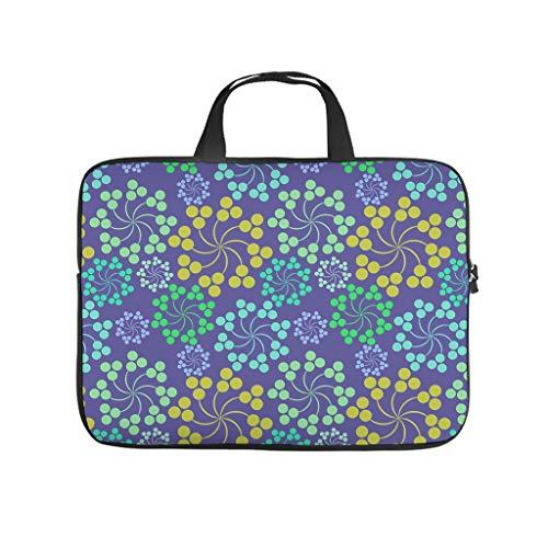 Mandala - Bolsa para portátil resistente al agua con diseño de flores, para el trabajo, negocios