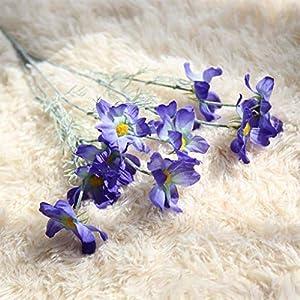 Artificial and Dried Flower Artificial Flowers Silk Decorative Flowers Fake Flower Cosmos Bouquet Fleur Artificielle Home Wedding Decoration 1PCS/Lot – ( Color: Blue )