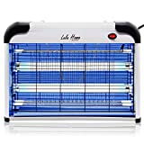 Lulu Home Electric Bug Zapper, Indoor Insect Killer for Mosquito, Bug, Fly with Powerful 2800V Grid 20W Bulbs, UV Lamp Trap Pest Killer