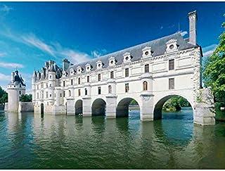 Ra-smit Panorama Chateau Chenonceau France Photo Art Impression sur toile de qualité supérieure Décoration murale Poster
