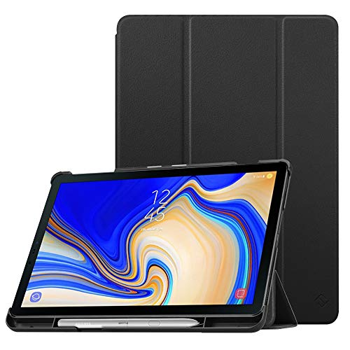 Fintie Slim Case for Samsung Galaxy Tab S4 10.5 2018 with S Pen Holder, Ultra Thin Tri-Fold Stand Cover with Auto Sleep/Wake for Samsung Tab S4 10.5 Inch Tablet SM-T830/T835/T837, Black