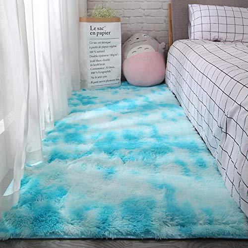 tapijt Faux schapenvacht lamsvacht bont pluizig voor de slaapkamer, woonkamer of kinderkamer | harig tapijt of gooien voor stoelen, krukken en banken