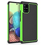 SYONER Shockproof Phone Case Cover for Samsung Galaxy A71 5G UW (Verizon) (Not for A71 5G Unlocked/T-Mobile/AT&T/Spring/US Cellular) [Green]