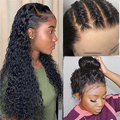 360 Lace Frontal Wigs Human Hair curly 360 Wigs for Black Women kinky curly 360 Human Hair Wig Pre Plucked with Baby Hair 360 Lace Wig( 22 Inch, 360 Lace Wig)