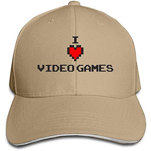 Dale Hill Gorra de béisbol Unisex Amo los Videojuegos Sombrero Plano de algodón Gorras Deportivas y al Aire Libre Ajustables Ajustables