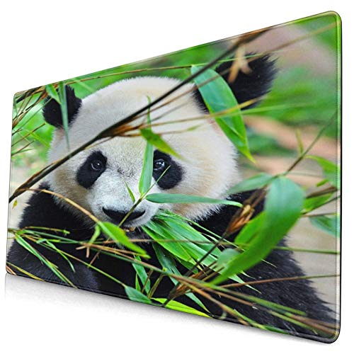 Gaming Mouse Pad,Hungry Giant Panda Bear Eating Bamboo,Non-Slip Rubber Base MousePads Mat for Study Office Home Laptop Travel
