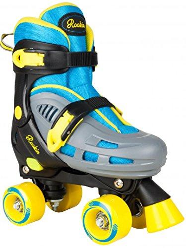 Rookie Adjustable Duo Junior LRG 3-6 Rollschuhe mit 4 Rollen, Unisex Kinder, blau/gelb, 35 1/2-39