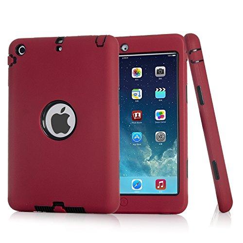 ZERMU - Funda para iPad Mini 2, iPad Mini 3, 3 en 1, Resistente a los Golpes, de Silicona y policarbonato Duro, Resistente a los Golpes, Resistente a los Golpes y a los Golpes