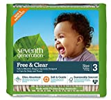 Seventh Generation Free & Clear, Unbleached Diapers, Size 3, 62 Count, Packaging May Vary