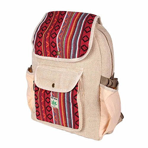 Rucksack aus Hanf, cultbagz Nepal Hand Made Daypack Rich Hemp