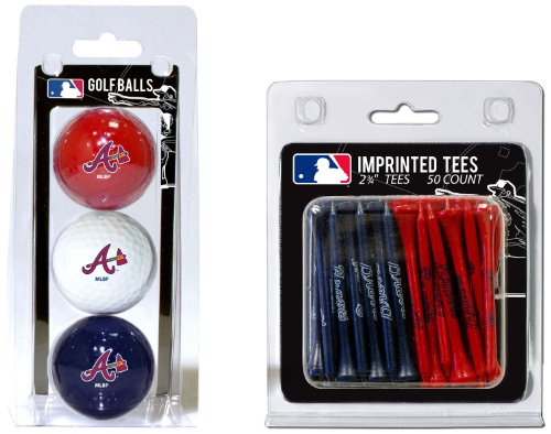 Purchase Team Golf MLB Atlanta Braves Logo Imprinted Golf Balls (3 Count) & 2-3/4 Regulation Golf T...