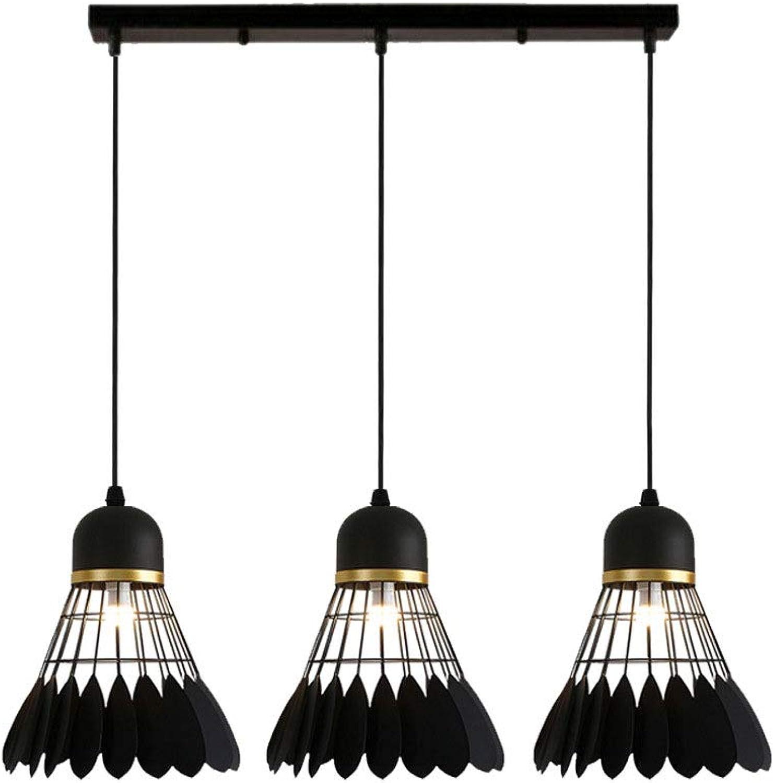 CHENSQ Kronleuchter kreative Persnlichkeit Feder Lampe Restaurant Wohnzimmer Deckenleuchte DREI-Kopf-Kronleuchter Beleuchtung
