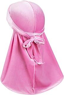 ASHILISIA Luxury Velvet Wave Durag - Silky Durag Headwraps with Extra Long Tail for 360 Waves