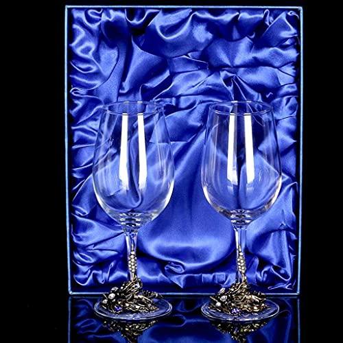 XiYou Weinglas Weingut Haushaltsset Kristallglas Becher Weinglas Hochzeitsgeschenk (Silber, Kombinationspakete)