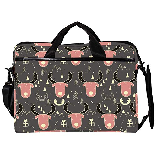 Computer Bag Moose Pattern Suitable for MAC Computers Men and Women Handbags : 13.4 inch-14.5 inch