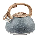 Whistling Tea Kettle Stainless Steel Teapot, Teakettle for Stovetop Induction Stove Top, Fast...