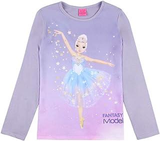 Top Model Niña T-Shirt, Manga Larga, Violeta
