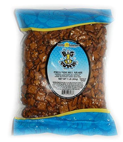 Premium Mix Arare Aloha Gourmet Da Big Pounder Japanese Rice Crackers (1 bag)