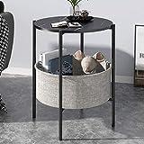 Tavolini da caffè Tabla de café pequeña, Mini sofá, gabinete lateral, lujo ligero, mesa redonda, sala de estar, mesa de té de cama simple, pequeño apartamento, mesa de café pequeña de doble capa tavol