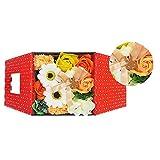お花のカタチの入浴剤 ミッフィーバスフレグランスボックス 誕生日 記念日 お祝い (オレンジ)