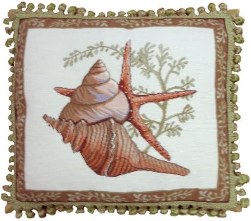 Max 89% OFF Deluxe Pillows Shells on Starfish - x 18 in. pill 2021 new needlepoint 20