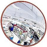 HLWJXS Espejo de Tráfico Panorámico de Gran Angular Montado en la Pared Espejos de Punto Ciego, Espejo de Seguridad Convexo, Espejo Acrílico de Oficina de Seguridad para Tiendas Interiores/Los 60Cm