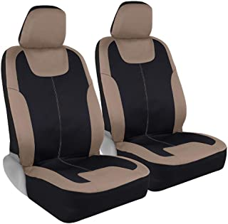 Motor Trend M224 Beige Waterproof Car Seat Covers for Front Seats Only – Premium Automotive Bucket Seat Covers, Made for V...