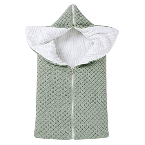 Neugeborenen Wickeldecke, Multifunktional Winter warme Schlafsack Kinderwagen Decke für 0-12 Monate Baby Jungen oder Mädchen