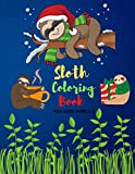 Sloth Coloring Book For Kids ages 2-8: Adorable Sloths Funny & Silly wild Animal Coloring Books for Adults Creatures to Color Designs for Men and Women, girls & boys, kids & toddlers