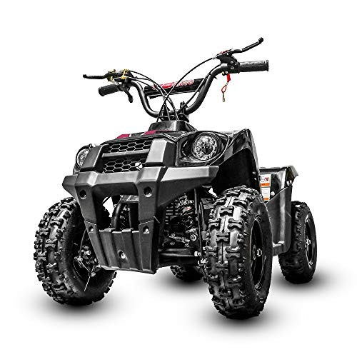 Fit Right Monster Kids Wheeler 40cc 4 Stoke Gas Powered ATV Off Road Kids ATV Front and Rear Suspension and Disk Breaker Perfect First Quad for Kids (Pink)