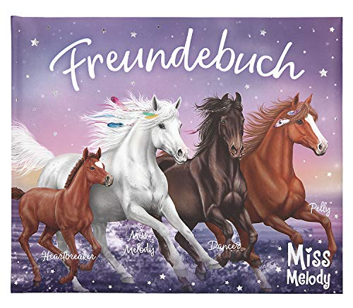 Depesche 10293 Freundebuch Miss Melody, blau, ca. 17 x 20,5 x 1,5 cm, bunt
