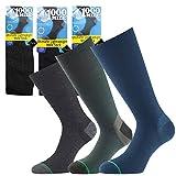 1000 Mile Herren Socken, leicht, doppellagig, blasenfrei, Gr. L, Marineblau, 1 Paar
