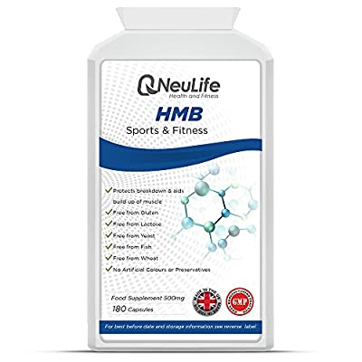 Neulife HMB 500mg, 180 Capsules, Supports Lean Muscle Mass