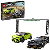 LEGO Speed Champions Lamborghini Urus ST-X and Lamborghini Huracán Super Trofeo EVO 76899 Model Car Building Kit, New 2020 (663 Pieces)