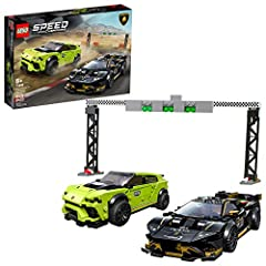 This stunning, collectible model car playset featuring 2 LEGO Lamborghini race cars is packed with authentic details and is perfect for those who love race cars and staging thrilling race action! The buildable Lamborghini Huracán Super Trofeo EVO and...