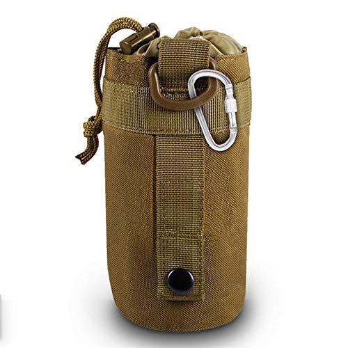 BAPDSB Bolsa de la Botella de Agua Sistema táctico Militar Molle Bolsa de Caldera con Hebilla Gancho Senderismo Bolsa de la Cintura Portador de la Botella de Camping