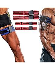 Dapuly Occlusiebanden, 2 paar bodybuilding, bloedstroombeperkingsbanden, fitnessstudio, gewichtheffen, training voor spiergroei