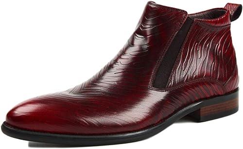 botas Chelsea hombres Gamuza Cuero Seguridad Formal Brogue Clásico botas Altas Martin botas Puntiagudas botas Cortas botas De Invierno