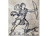 Kit de mosaico romano Diana Cazadora. 5000 teselas cúbicas de 5mm. + herramientas. Tamaño...