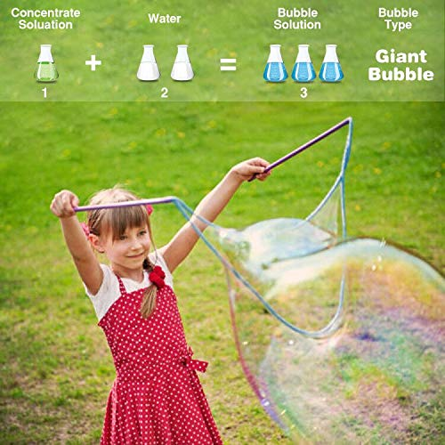 HOMILY Bubble Solution Refill 32 oz (up to 2.5 Gallon) Concentrated Bubbles Refill Solution for Bubble Machine