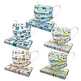 CANSHN 50 Stück Mundschutz Kinder Einwegmaske 3-lagig mit Cartoon Druck Tücher Atmungsaktiv Mundbedeckung Bandana Halstuch für Jungen und Mädchen - Mischen