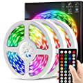 50ft Led Strip Lights, CHUSSTANG LED Lights Strip for Bedroom, LED Lights with 44 Keys IR Remote Controller, Color Changing 5050 RGB 360 LEDs, LED Tape Light Strip Music Sync & Timer for Bedroom