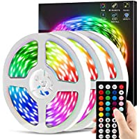 Chusstang LED Lights Strip for Bedroom with 44 Keys IR Remote Controller