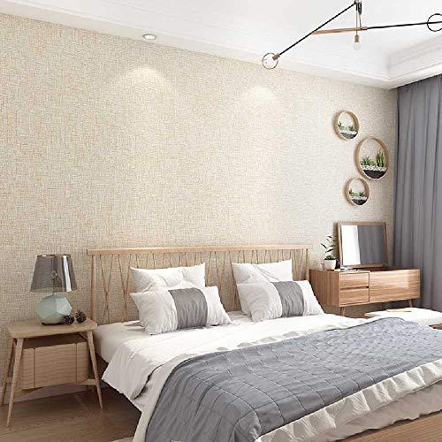 Onbekend No Brand Modern minimalistisch Oslon vliesbehang puur kleurimitatie kiezelband modderwit woonkamer slaapkamer behang Olijfgroen 9221