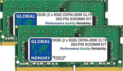 16GB (2 x 8GB) DDR4 2666MHz PC4-21300 260-PIN SODIMM Memoria RAM Kit per 27 Pollici Retina 5K iMac (2019)