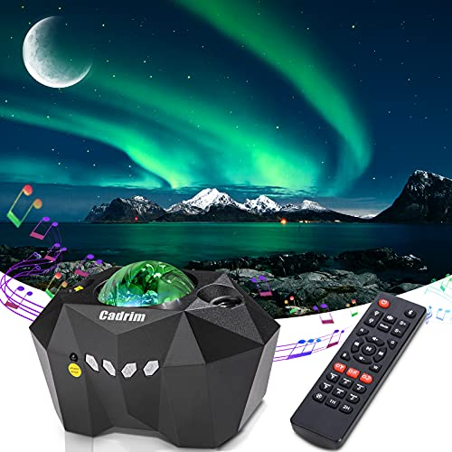 Cadrim Aurora Star Light Projector with Moon, LED Laser Night Starry Light Built-in Bluetooth Speaker and Remote Multi-Color Projection Lamp for Bedroom, Home Theater, Game Room and Mood Ambience