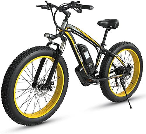 FLHLH Bicicletas eléctricas para adultos 4.0 bicicleta de neumático de grasa / 100 0W 48V Bicicletas eléctricas súper eléctricas con batería de litio extraíble y cargador de batería y tres modos de tr