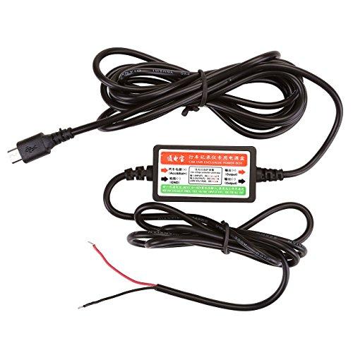 Graceme Câble USB Micro USB Câble Chargeur pour Surveillance Vidéo Caméra de Voiture Véhicule Camion Stationné Dash Cam 12V 24V cà DC 5V (Micro USB)