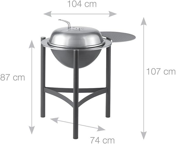 Barbacoa de acero inoxidable y aluminio Dancook 1800 di/ámetro: 58 cm