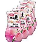 【まとめ買い】小林製薬 お部屋の消臭元 消臭芳香剤 室内用 もぎたて白桃の香り 400ml×4個 (おまけ付き)